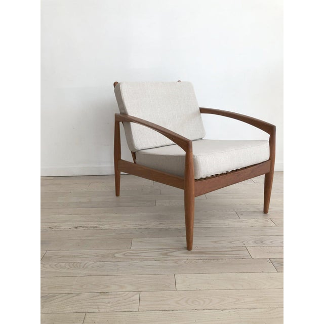 Mid-Century Modern 1955 Mid-Century Modern Kai Kristiansen Teak Paper Knife Easy Chair For Sale - Image 3 of 13