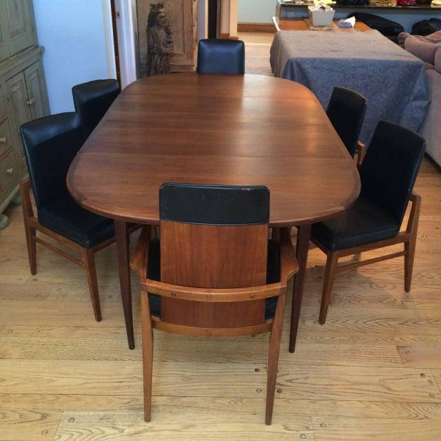 Mid-Century Modern Walnut Dining Set - Image 3 of 10