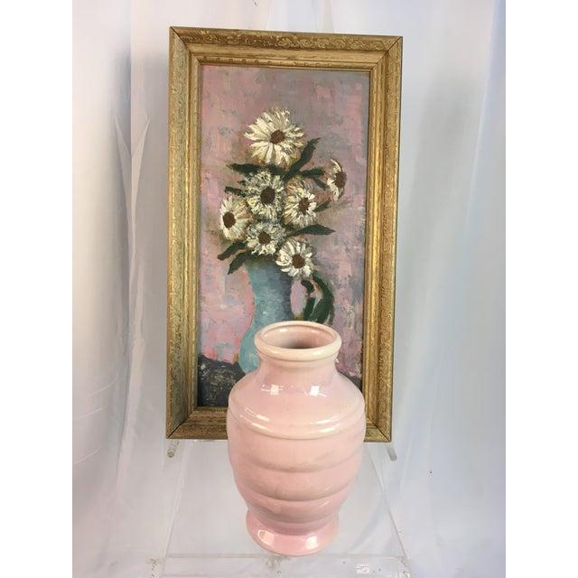 Vintage Floral Soft Pastels Oil Painting For Sale - Image 4 of 11