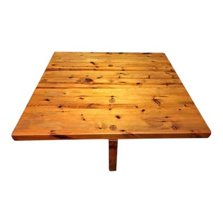 1960s Scandinavian Modern Sven Larsson Pine Coffee Table For Sale