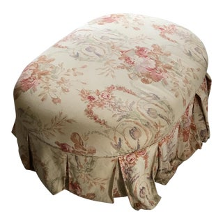 Early 20th Century Antique Skirted Ottoman For Sale