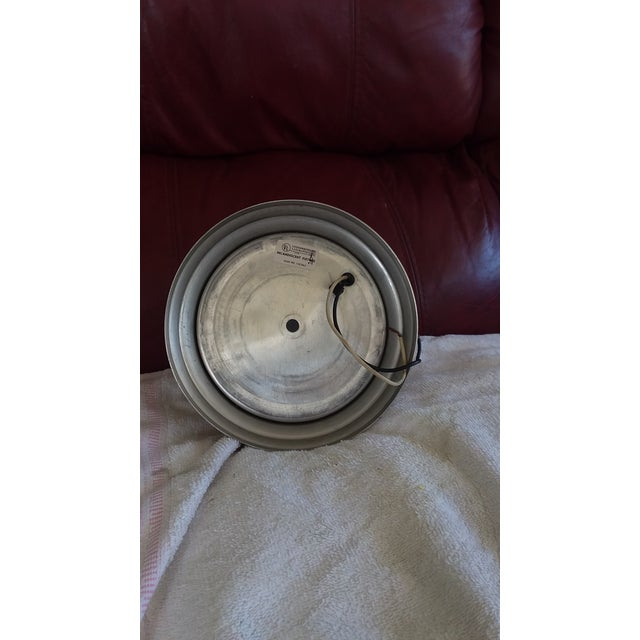 1970s 1960s Mid Sized Aluminum Flush Mount For Sale - Image 5 of 6