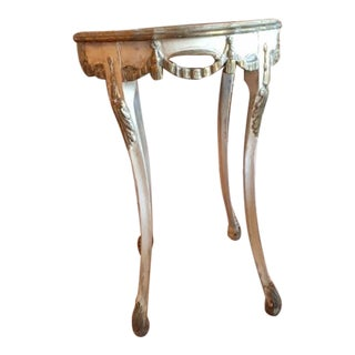 Antique Italian Painted Tassel Side Table For Sale