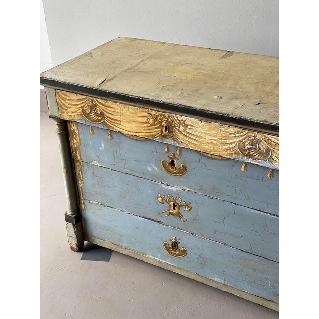 19th C. Swedish Painted Chest For Sale - Image 4 of 8