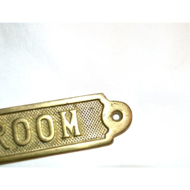 Mid-Century Modern Vintage Ballroom Brass Plaque For Sale - Image 3 of 9