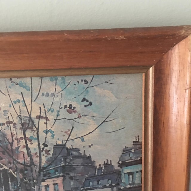 Vintage Antoine Blanchard Parisian Scene For Sale In Miami - Image 6 of 9