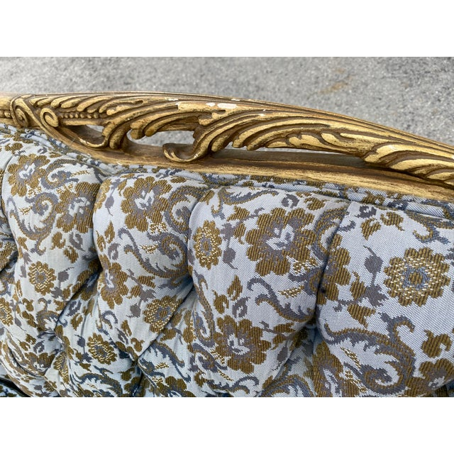 1950s Vintage Hollywood French Curved Sectional For Sale - Image 5 of 8