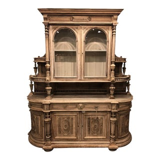 19th Century French Henri II Bleached Walnut Server For Sale