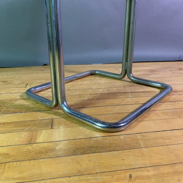 Silver Wolfgang Hoffman (Attr) 1930s Tubular Chrome & Marble Table For Sale - Image 8 of 11