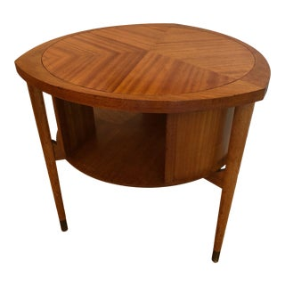 Mid Century John Keal for Brown-Saltman Mahogany Drum Table For Sale