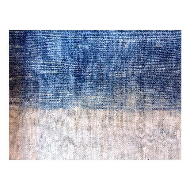 Faded Indigo Batik Textile Fabric - 3.6 Yards - Image 4 of 6