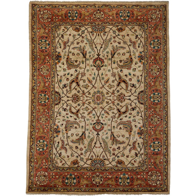 """Ziegler Hand Knotted Area Rug - 5'9"""" X 7'10"""" For Sale"""
