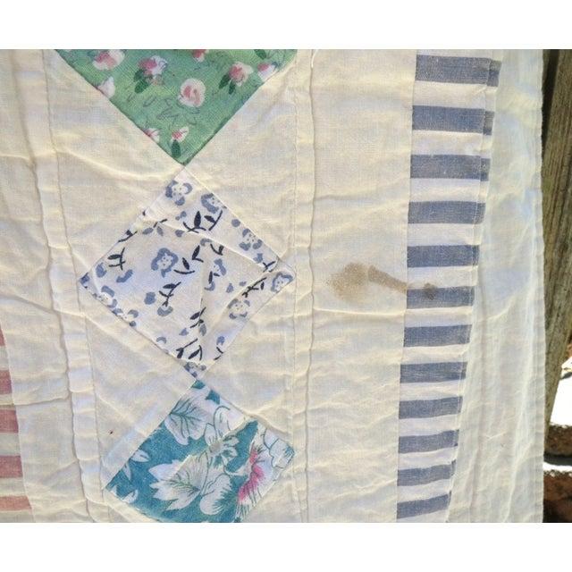 Vintage Feedsack Star Quilt - Image 6 of 8