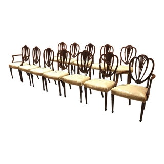 1940s Vintage Chippendale Dining Chairs- Set of 12 For Sale