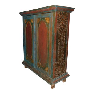 Indonesian Painted Cabinet Wardrobe