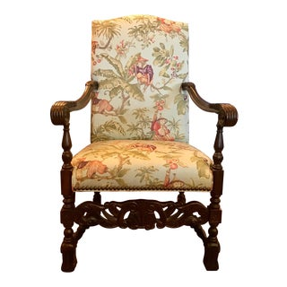 Vintage Monkey Upholstered Chair