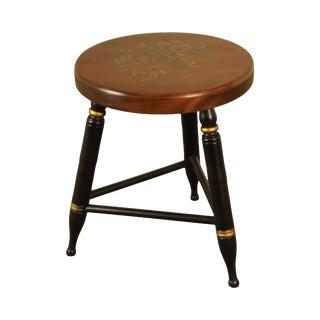 Hitchcock Vintage Round Seat 3 Leg Stool For Sale
