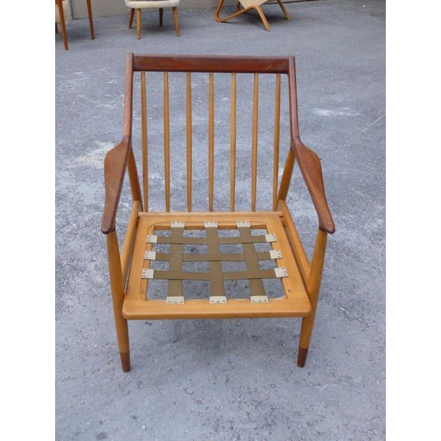 Danish Modern 1950's Vintage Jason Ringsted Danish Modern Rosewood & Teak Armchair For Sale - Image 3 of 11