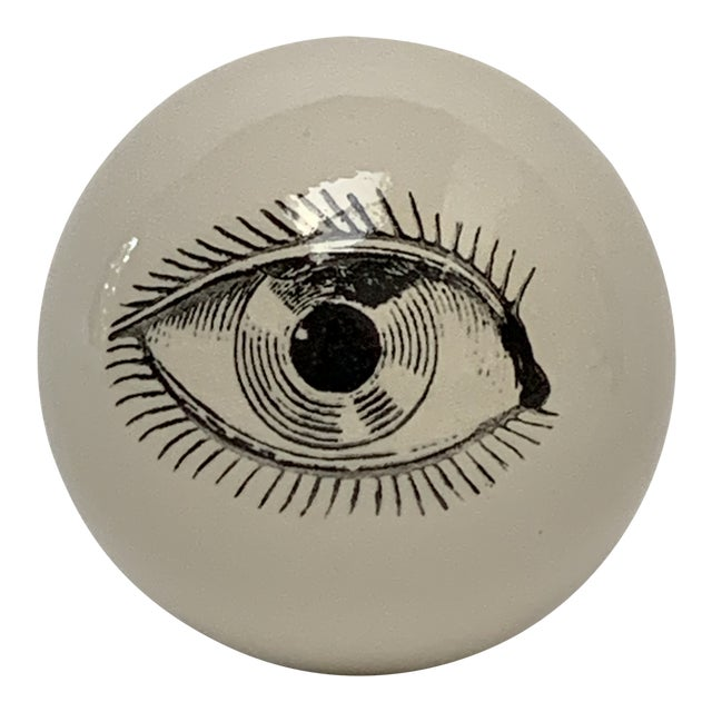 Fornasetti Surrealist Ceramic Eyeball Paper Weight For Sale