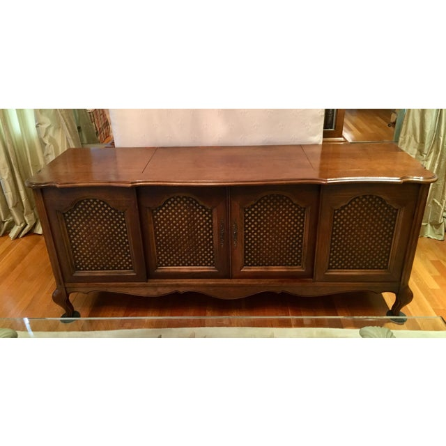 Credenza With Built-In Record Player & Stereo For Sale - Image 12 of 12