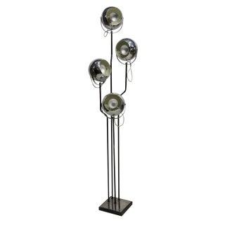 Goffredo Reggiani Chrome Four Light Floor Lamp For Sale