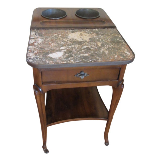 De Bournay Rafraichissoir Table With Marble Top - Image 1 of 10