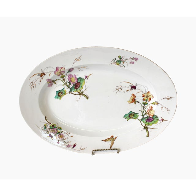 Limoges Delinieres & Co serving platter. A stunning example of late 19th century Limoges porcelain. D & C marking on the...