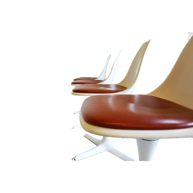 Mid-Century Modern Burke Tulip Chairs - Set of 4 - Image 9 of 9