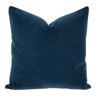 F. Schumacher San Carlo Mohair Velvet Pillow For Sale