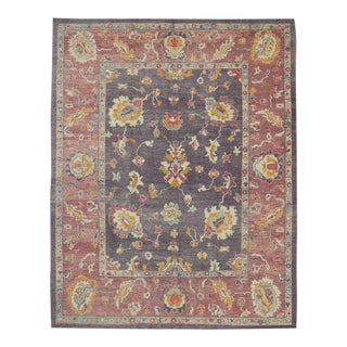 Contemporary Turkish Oushak Rug with Modern Cosmopolitan Style