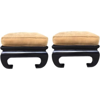 Pair of Asian James Mont Style Benches