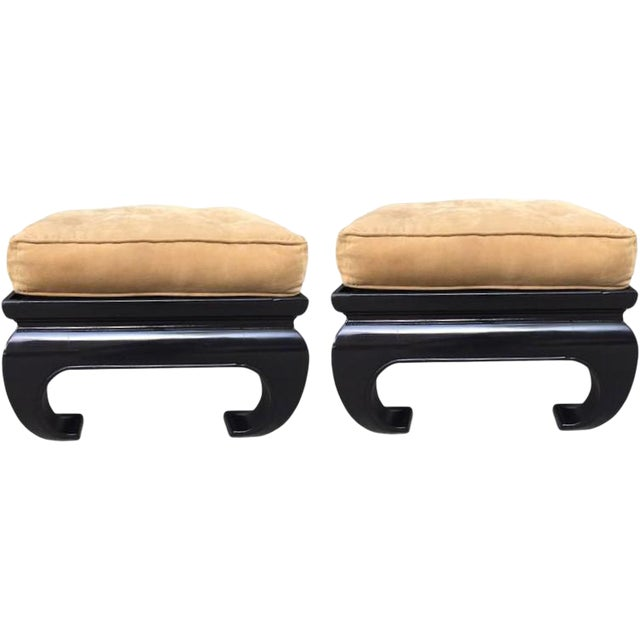 Pair of Asian James Mont Style Benches - Image 1 of 3