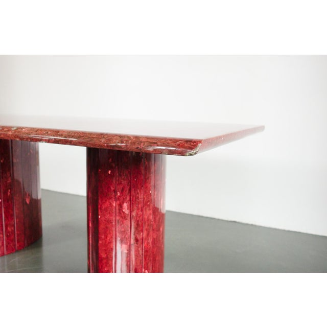 Red Red Quartz Dining Table For Sale - Image 8 of 10