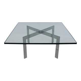 Ludwig Mies Van Der Rohe Style Barcelona Table For Sale