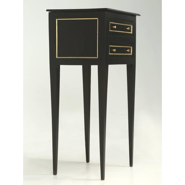 Lacquer French Louis XVI Style Nightstand or End Table For Sale - Image 7 of 7