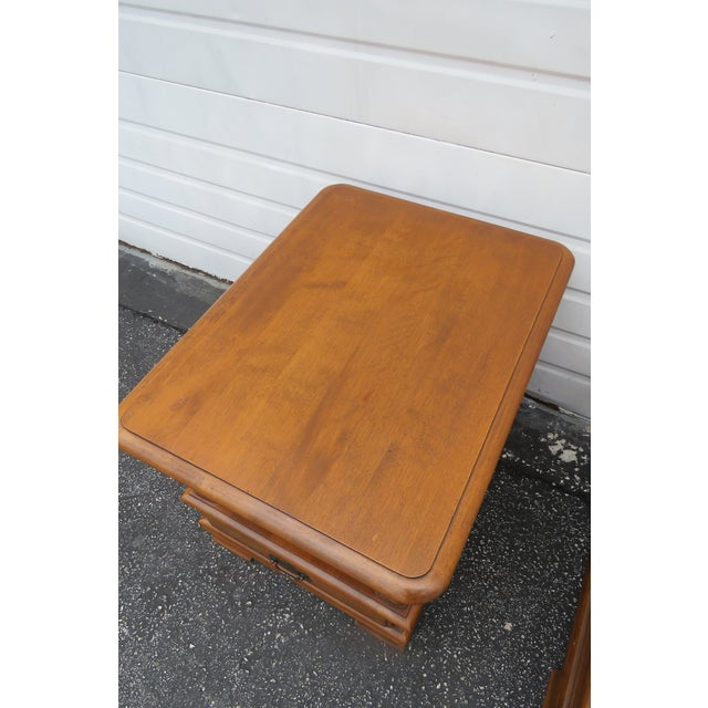 Ethan Allen Solid Maple Pair of Nightstands Side End Tables For Sale In Miami - Image 6 of 13