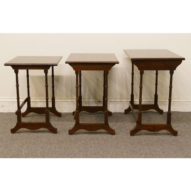 Ethan Allen Georgian Court Nesting End / Accent Tables - Set of 3 For Sale - Image 11 of 13