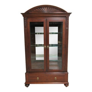 1990s Vintage Ethan Allen British Classics 2-Door China Cabinet For Sale