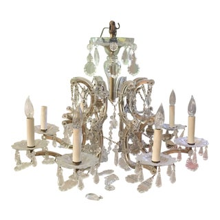 Eight Arm Marie Therese Chandelier For Sale