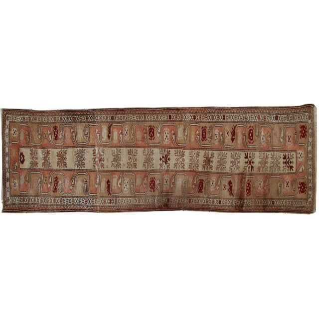 "Islamic 1940s Vintage Turkish Oushak Handmade Runner - 2'5"" x 8' For Sale - Image 3 of 10"