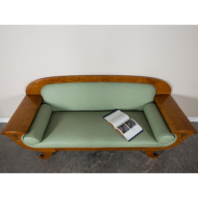 1920s Swedish Grace Biedermeier Satinwood Sofa For Sale - Image 11 of 11