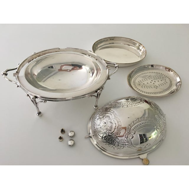 William Hutton & Sons Domed Silver Warming Dish - Image 4 of 10