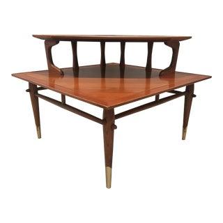 1950s Mid-Century Modern Lane Copenhagen Corner Table For Sale