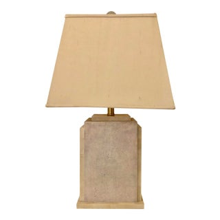 1980s Maitland Smith Tessellated Stone & Shagreen Table Lamp For Sale