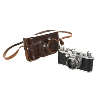 Vintage Leica IIIF Black Dial Camera For Sale