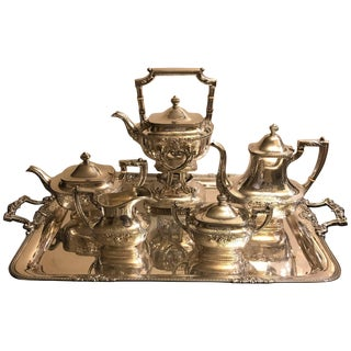 1920s Gorham Large Full Service Tea Service - Set of 7 For Sale