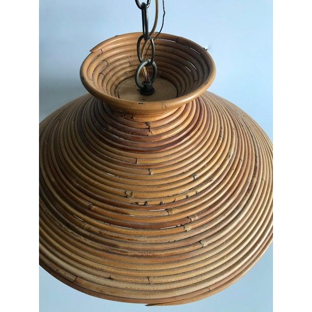 Mid Century Rattan Pendant Light - Image 7 of 8