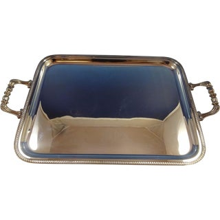 """Impero by Zaramella Argenti Sterling Silver Serving / Tea Tray 24"""" X 15"""" (#1292) For Sale"""