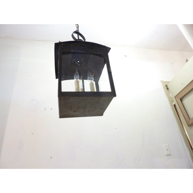 Late 19th Century American Tin Lantern For Sale - Image 5 of 8