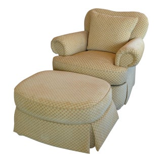Ferguson Copeland Michele Upholstered Lounge Chair & Ottoman